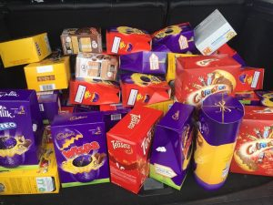 A selection of the Easter eggs donated to St Johns Hospice