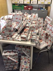 Piles of presents donated for the Make Christmas 2017 EPIC campaign