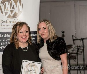 Philomena with the winner of the Female Employee of the Year award